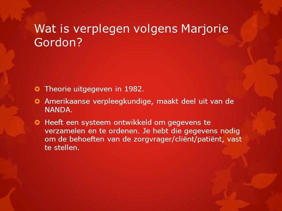 Wat is verplegen volgens Marjorie Gordon