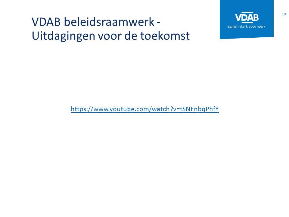 VDAB beleidsraamwerk - Uitdagingen voor de toekomst