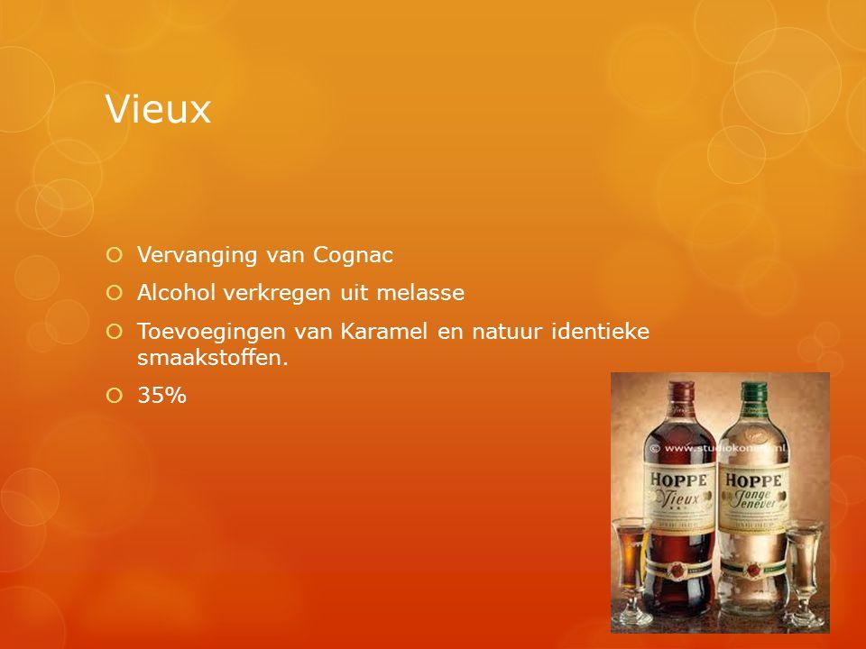Vieux Vervanging van Cognac Alcohol verkregen uit melasse