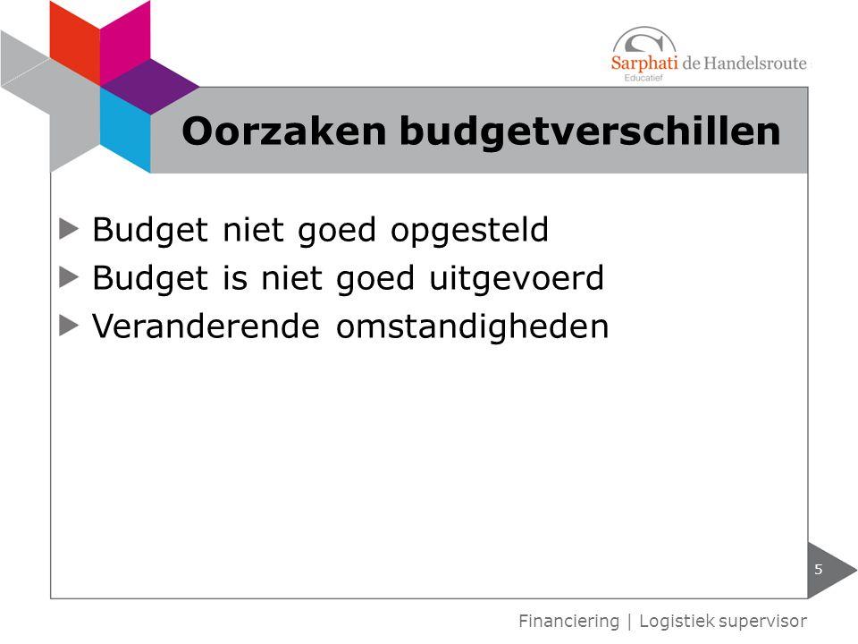 Oorzaken budgetverschillen