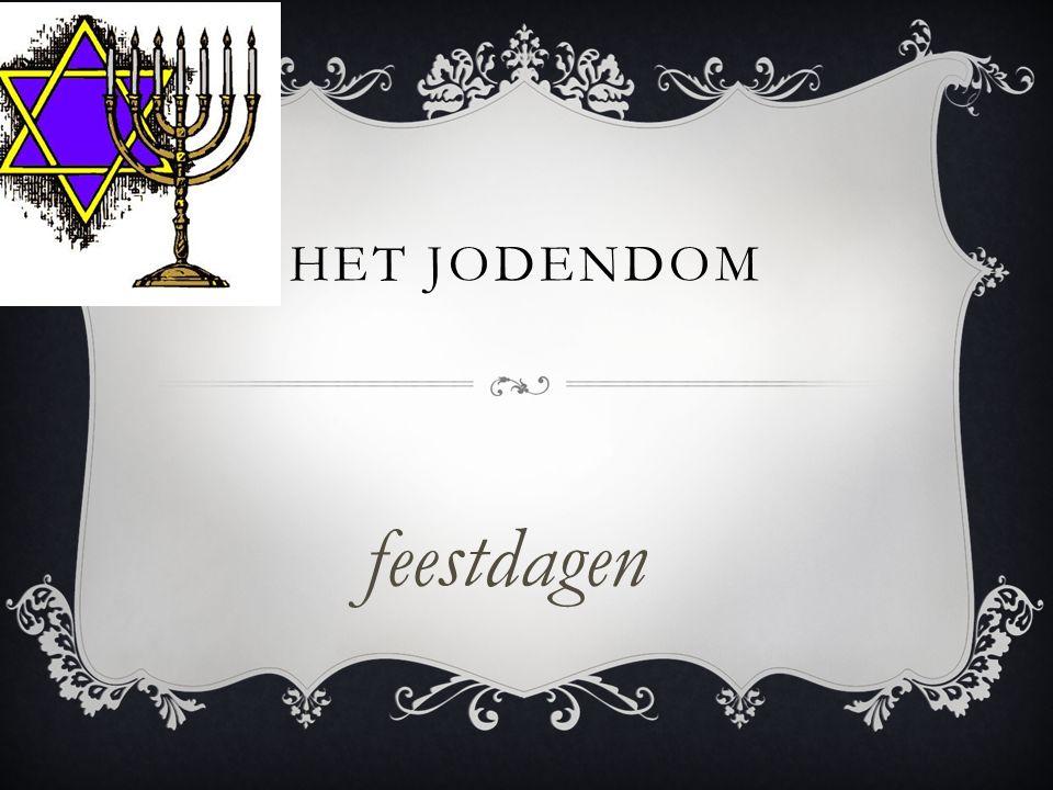 Het jodendom feestdagen