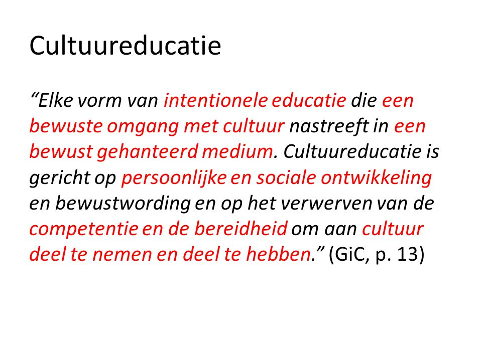 Cultuureducatie