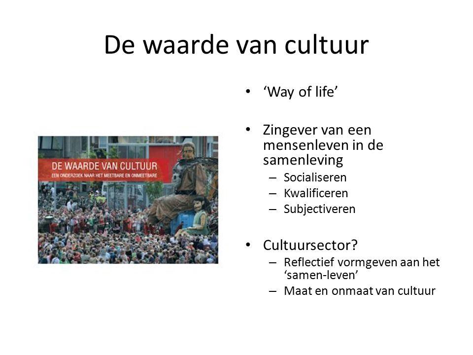 De waarde van cultuur 'Way of life'