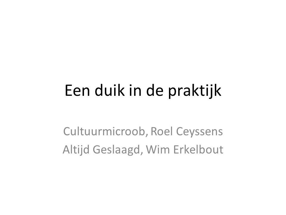Cultuurmicroob, Roel Ceyssens Altijd Geslaagd, Wim Erkelbout
