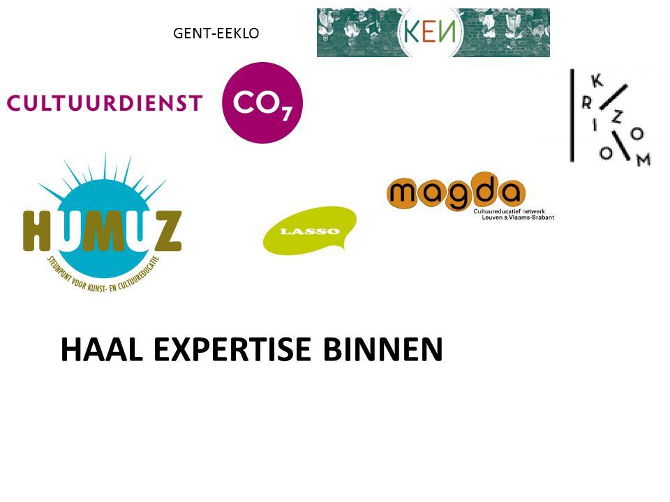 Haal expertise binnen GENT-EEKLO Expertise Netwerken CultuurEducatie