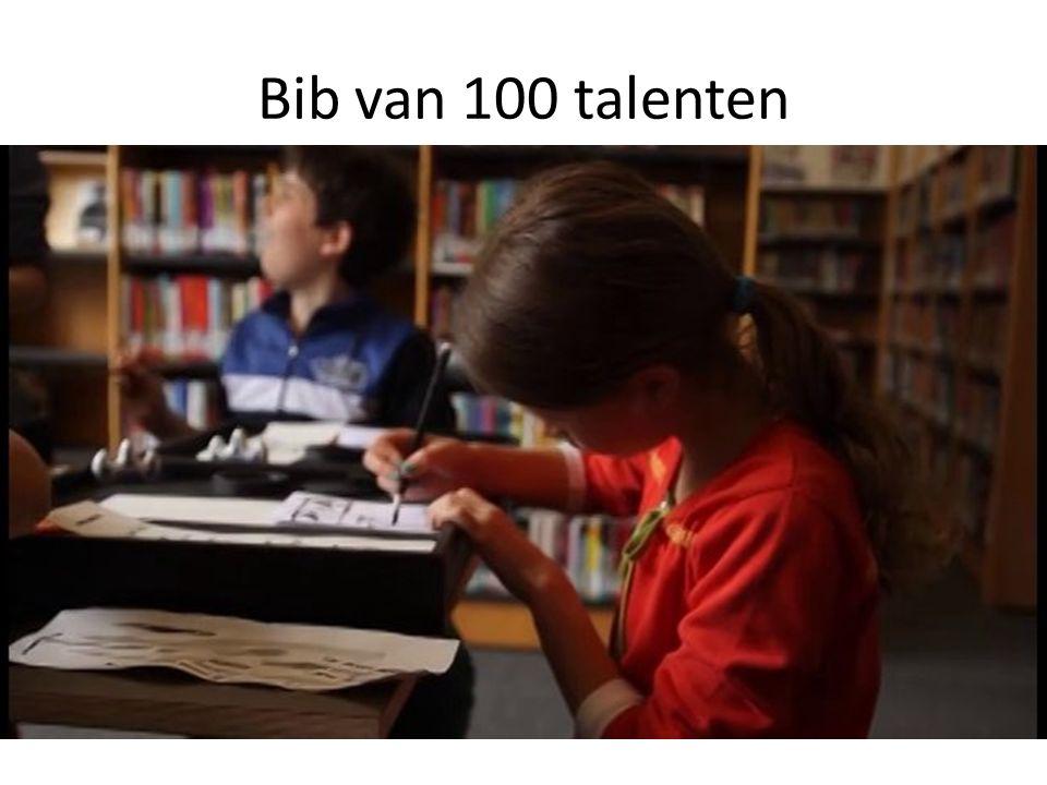 Bib van 100 talenten Interieur, vb. Bib van Brasschaat