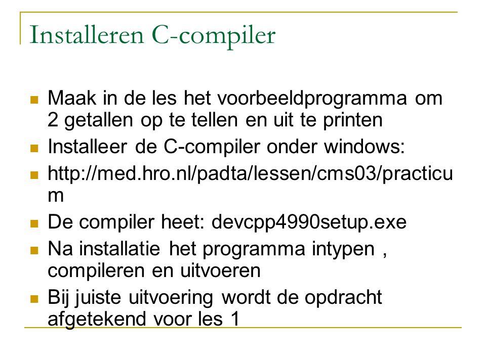 Installeren C-compiler