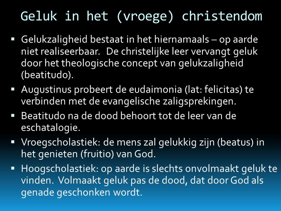 Geluk in het (vroege) christendom