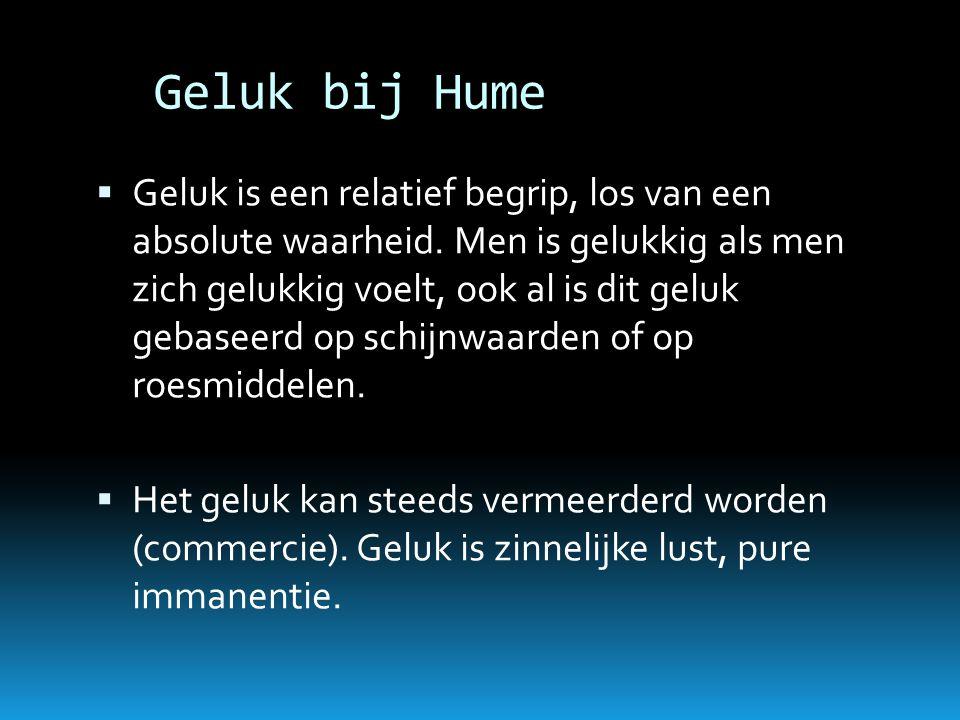 Geluk bij Hume