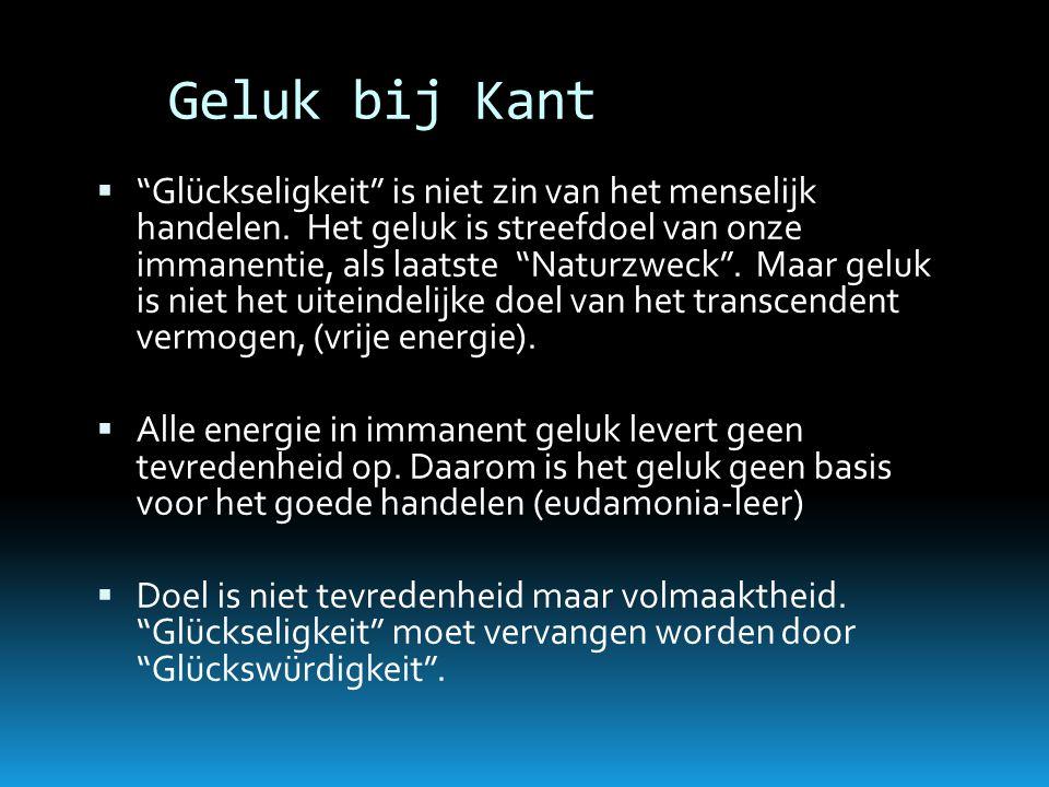 Geluk bij Kant