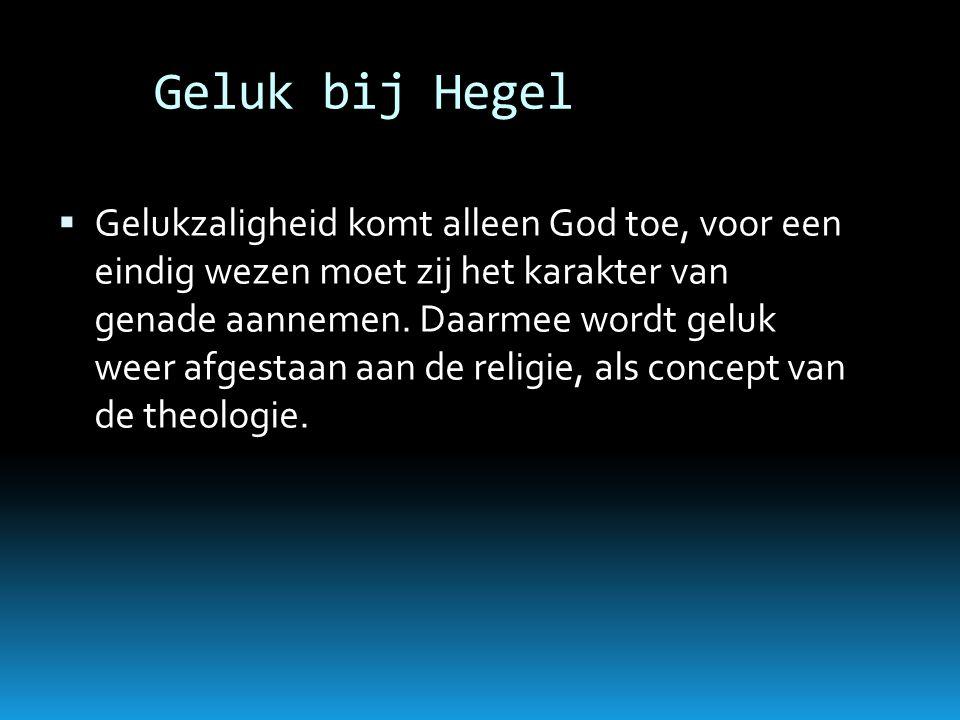 Geluk bij Hegel