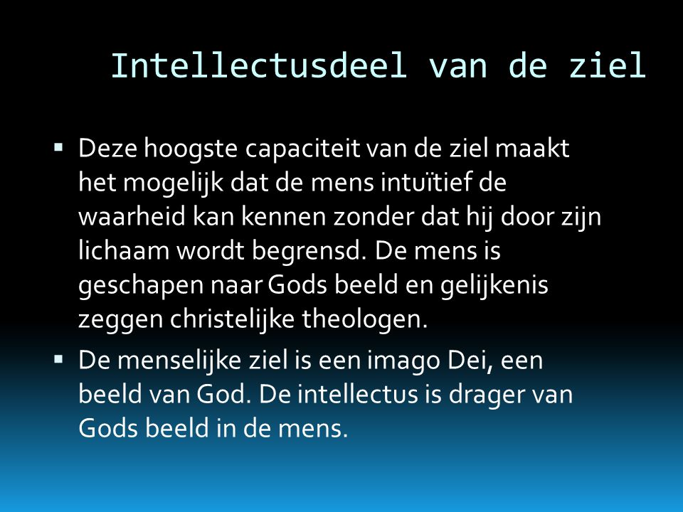 Intellectusdeel van de ziel