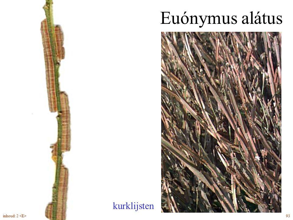 Euónymus alátus kurklijsten inhoud: 2 <E> 93
