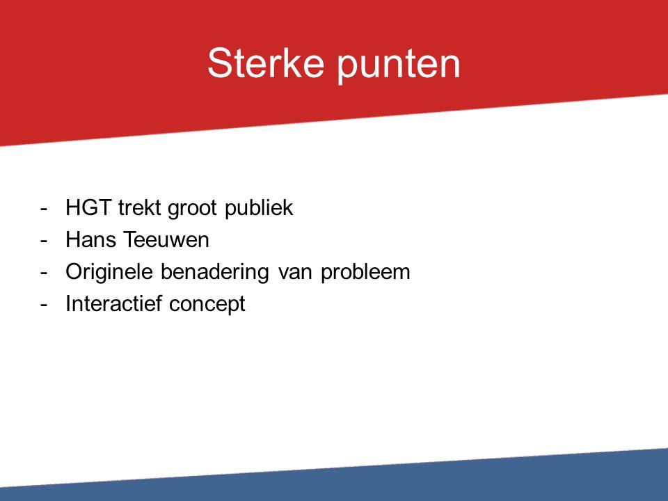 Sterke punten HGT trekt groot publiek Hans Teeuwen