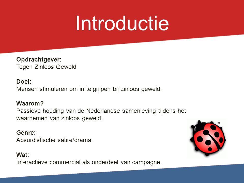 Introductie Opdrachtgever: Tegen Zinloos Geweld Doel: