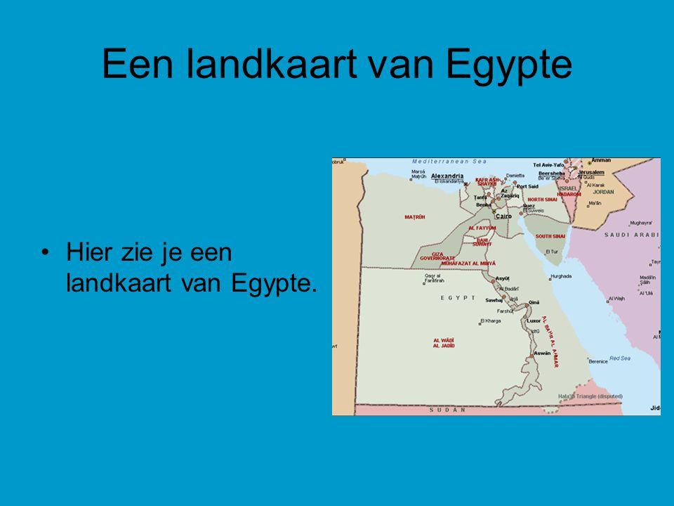 Een landkaart van Egypte