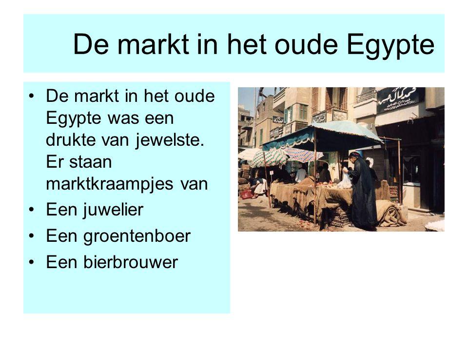 De markt in het oude Egypte