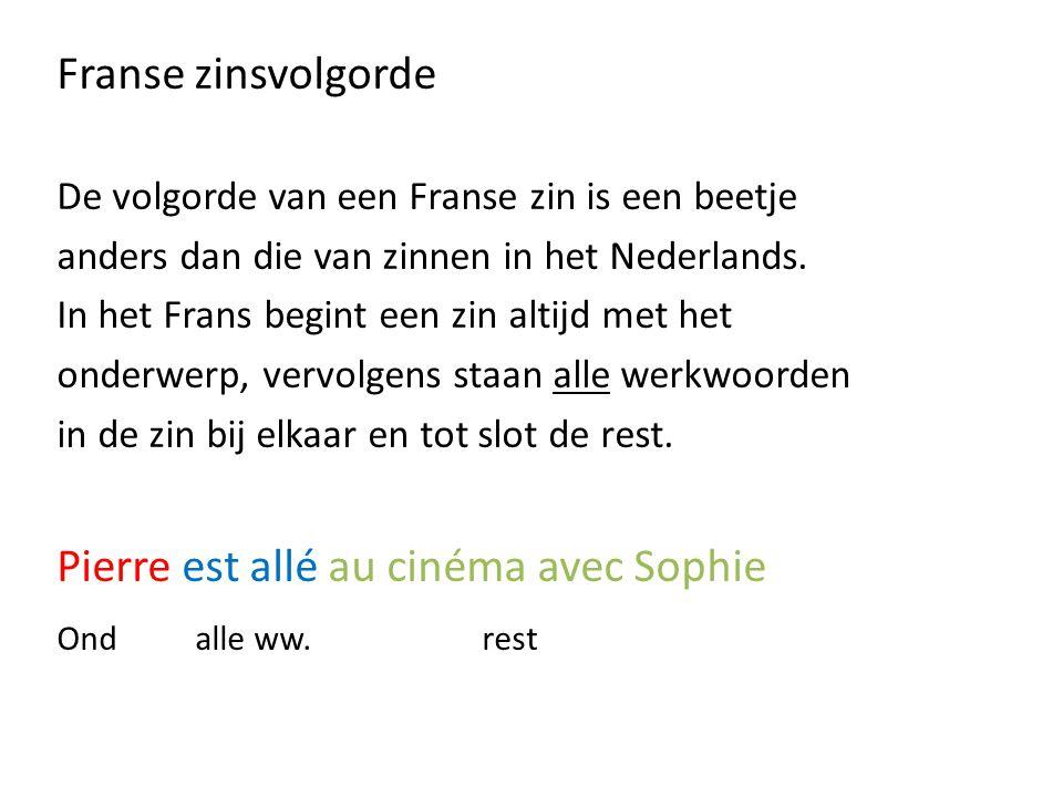 Pierre est allé au cinéma avec Sophie