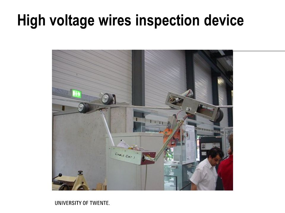 High voltage wires inspection device