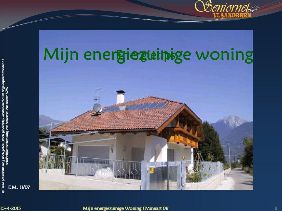 Mijn energiezuinige woning