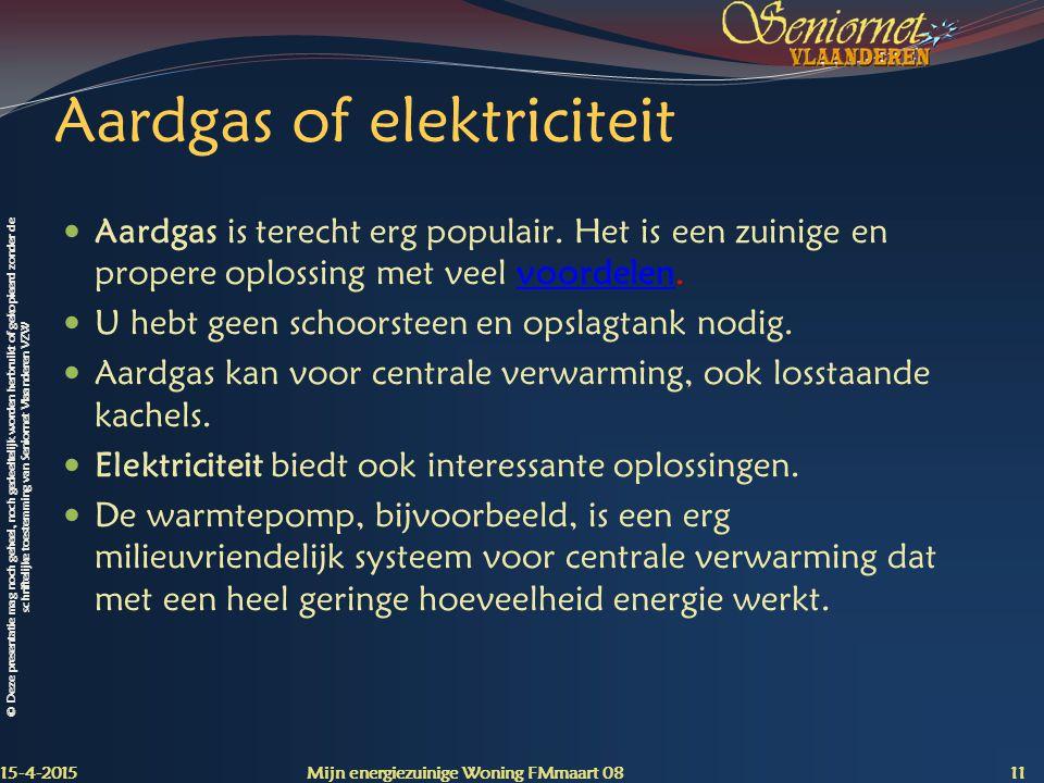 Aardgas of elektriciteit