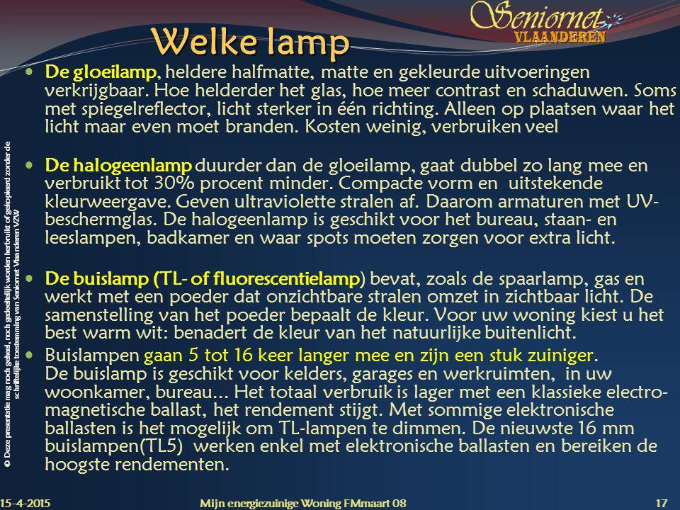 Welke lamp