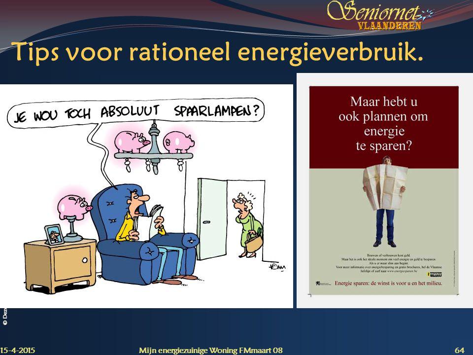 Tips voor rationeel energieverbruik.