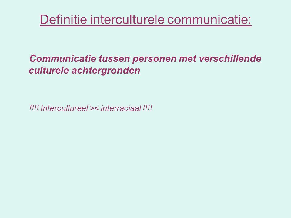Definitie interculturele communicatie: