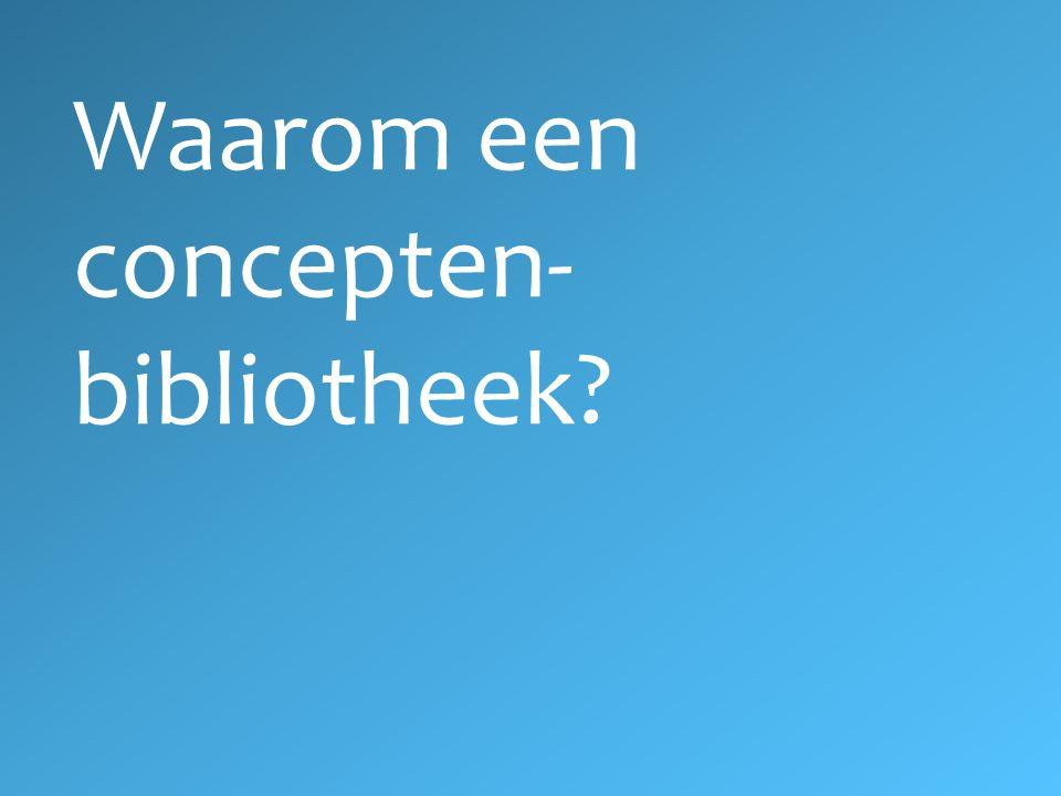 Waarom een concepten-bibliotheek