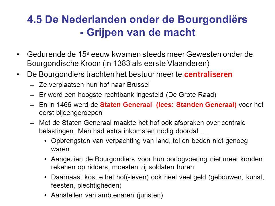 4.5 De Nederlanden onder de Bourgondiërs - Grijpen van de macht