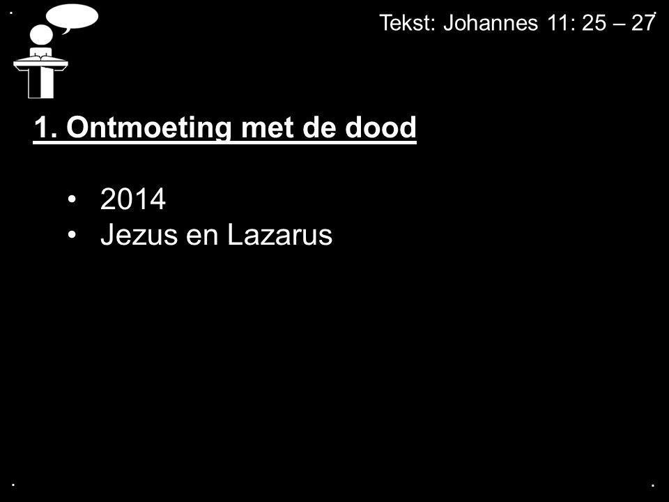 1. Ontmoeting met de dood 2014 Jezus en Lazarus
