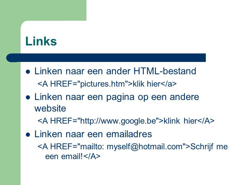 Links Linken naar een ander HTML-bestand