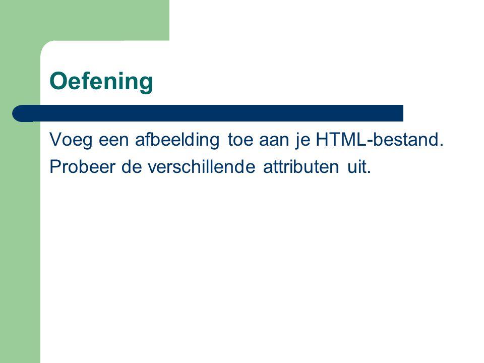 Oefening Voeg een afbeelding toe aan je HTML-bestand.