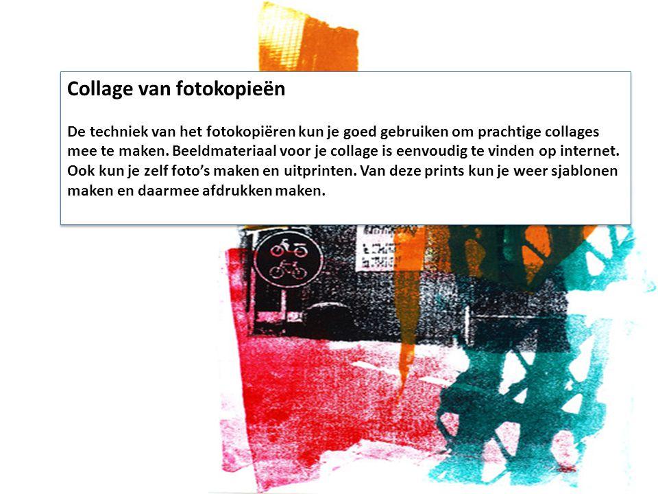 Collage van fotokopieën
