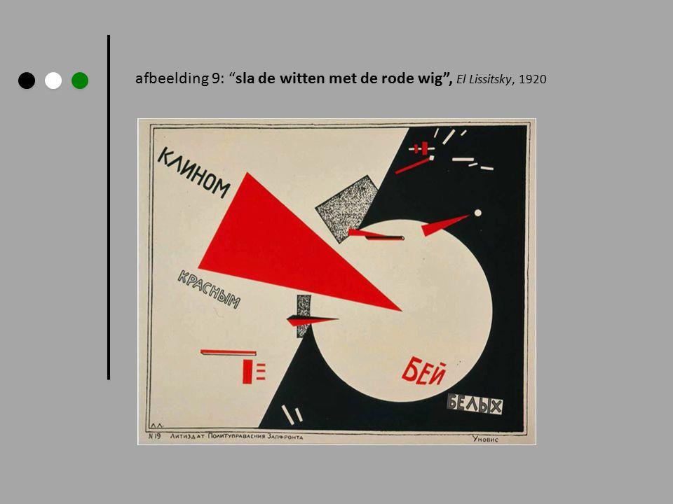 afbeelding 9: sla de witten met de rode wig , El Lissitsky, 1920