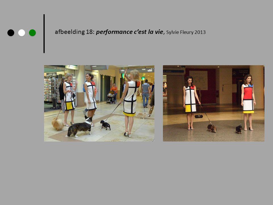 afbeelding 18: performance c'est la vie, Sylvie Fleury 2013