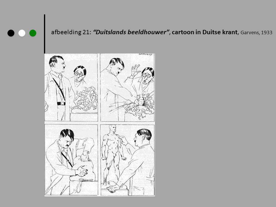 afbeelding 21: Duitslands beeldhouwer , cartoon in Duitse krant, Garvens, 1933