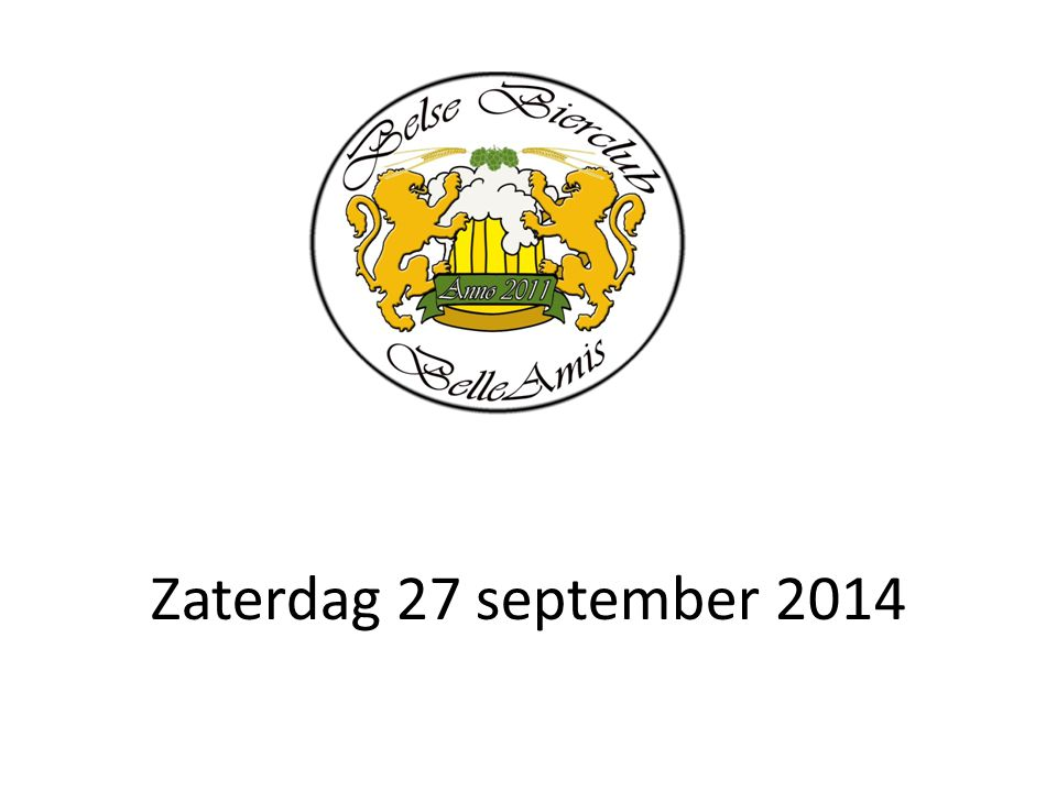 Zaterdag 27 september 2014