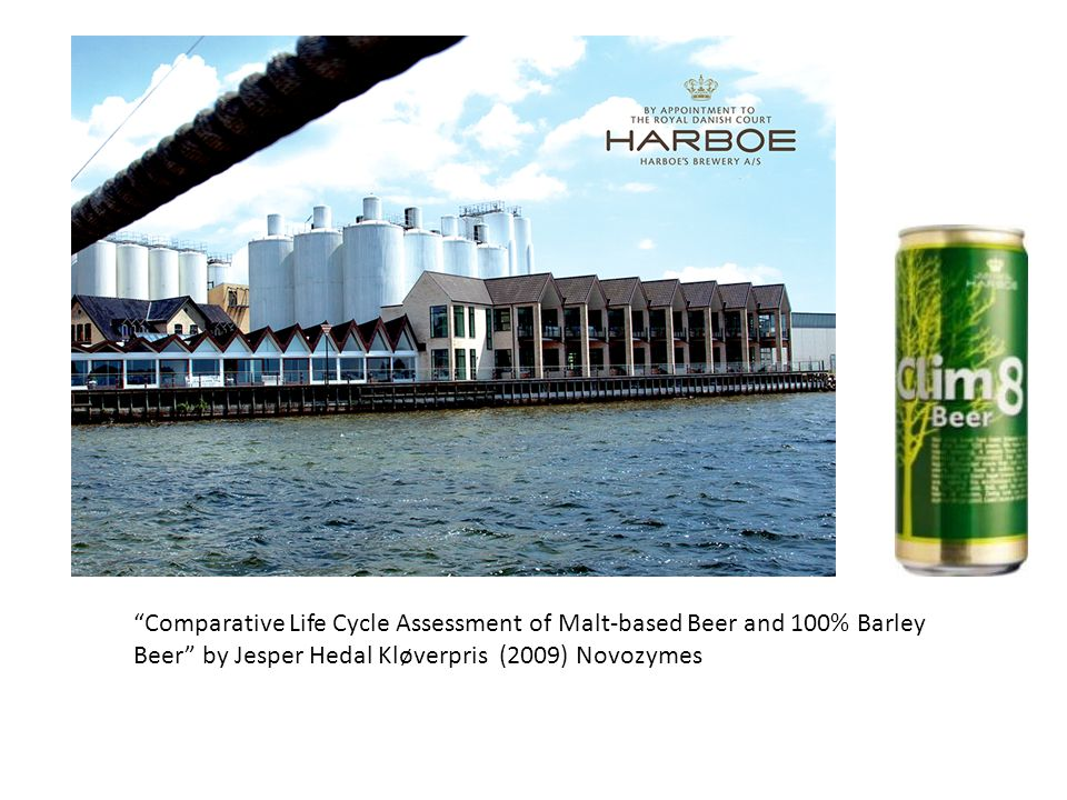 Comparative Life Cycle Assessment of Malt-based Beer and 100% Barley Beer by Jesper Hedal Kløverpris (2009) Novozymes
