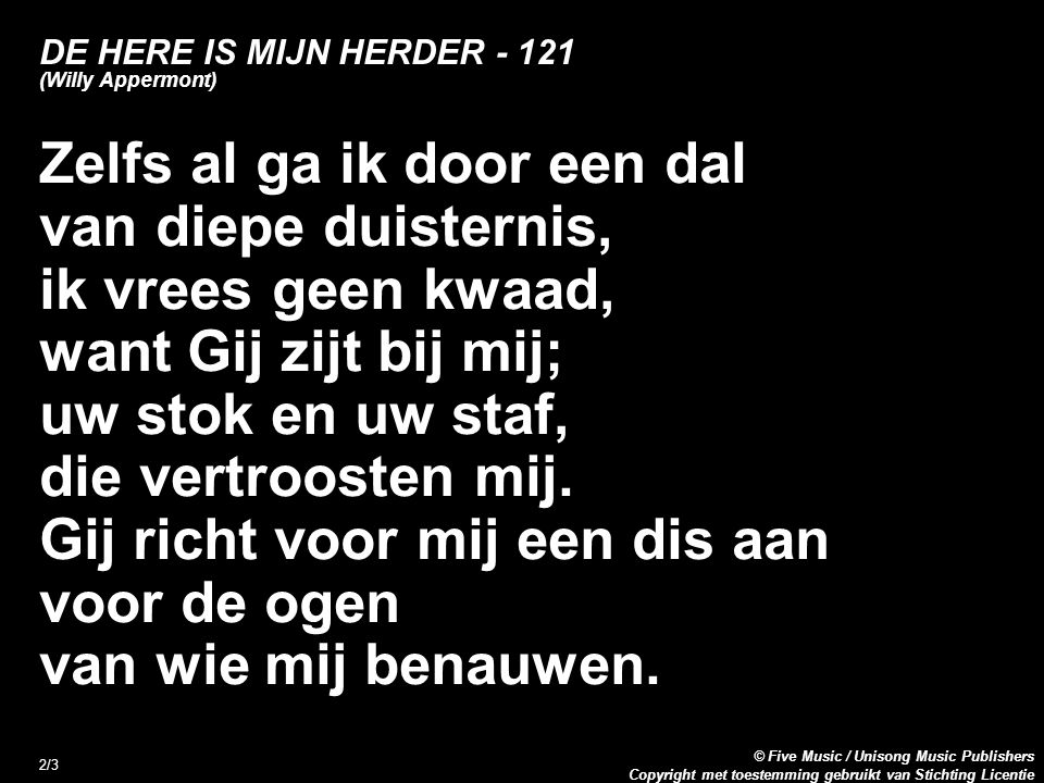 DE HERE IS MIJN HERDER - 121 (Willy Appermont)
