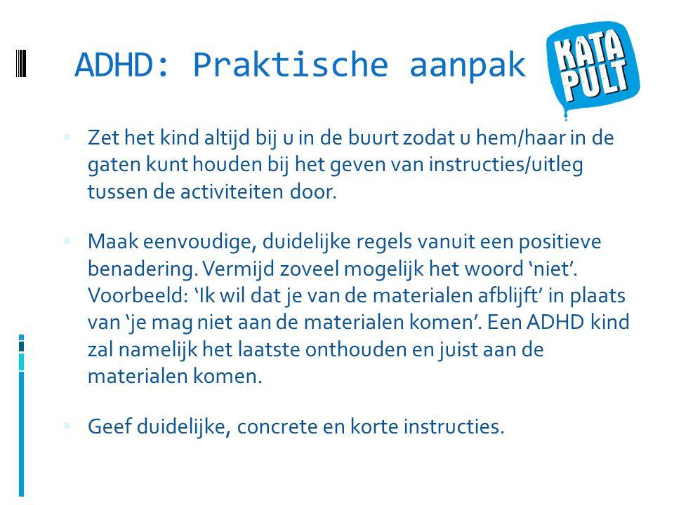 ADHD: Praktische aanpak