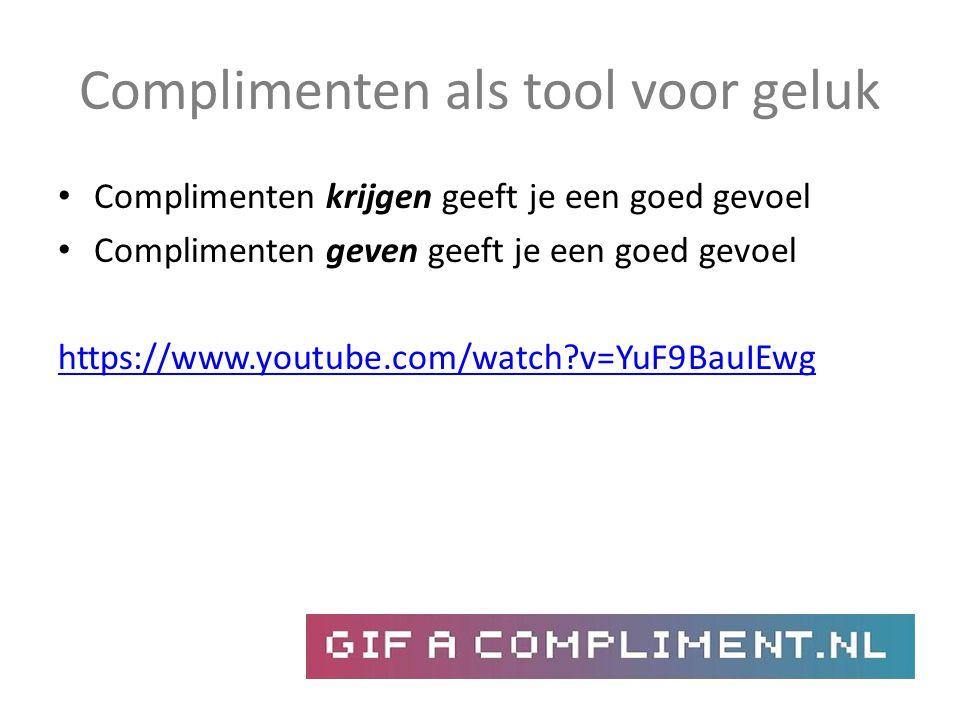 Complimenten als tool voor geluk