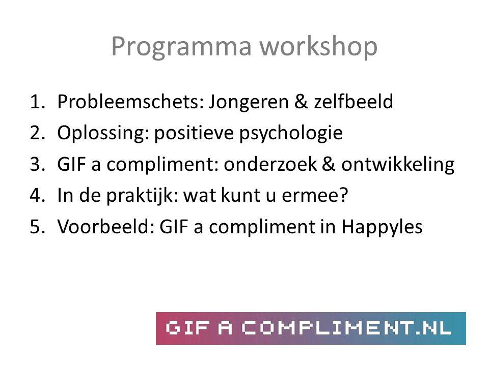 Programma workshop Probleemschets: Jongeren & zelfbeeld