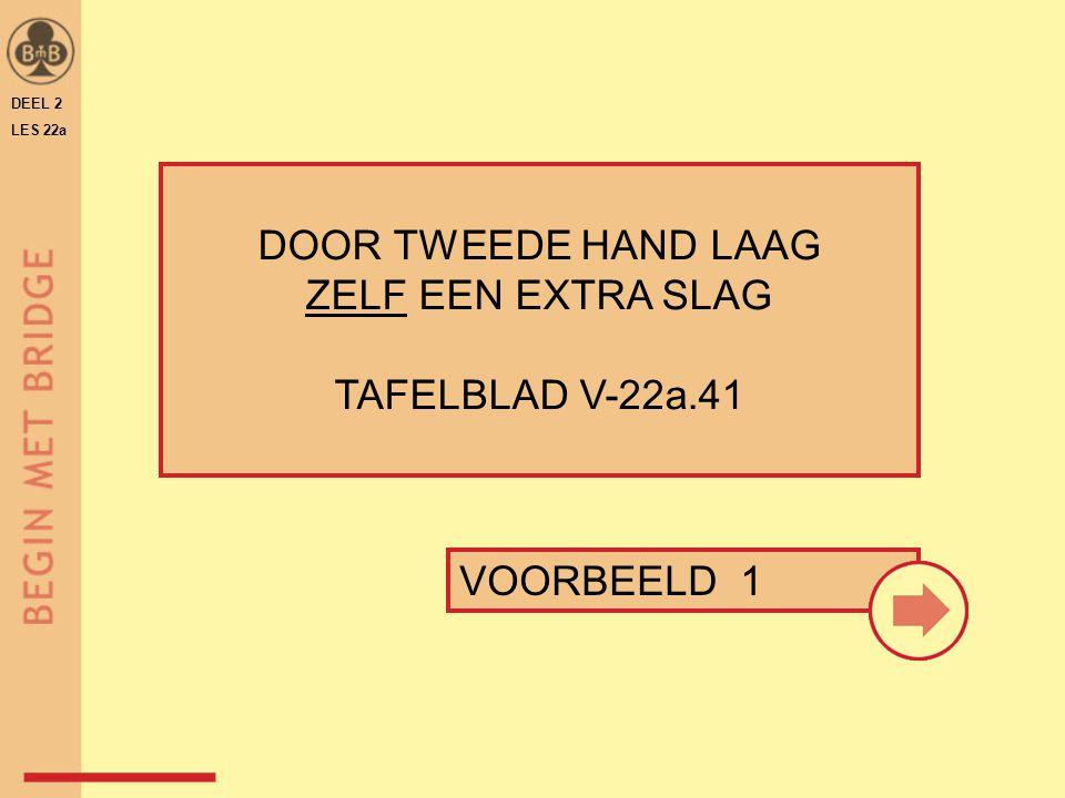 DOOR TWEEDE HAND LAAG ZELF EEN EXTRA SLAG TAFELBLAD V-22a.41