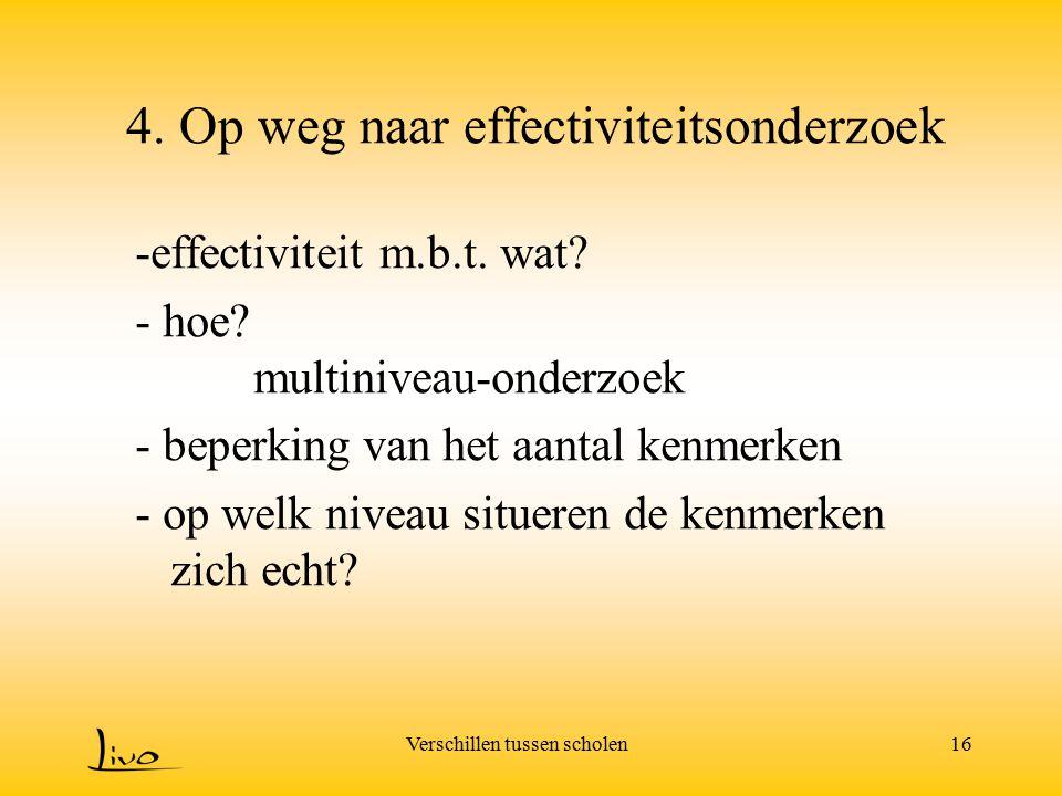 4. Op weg naar effectiviteitsonderzoek