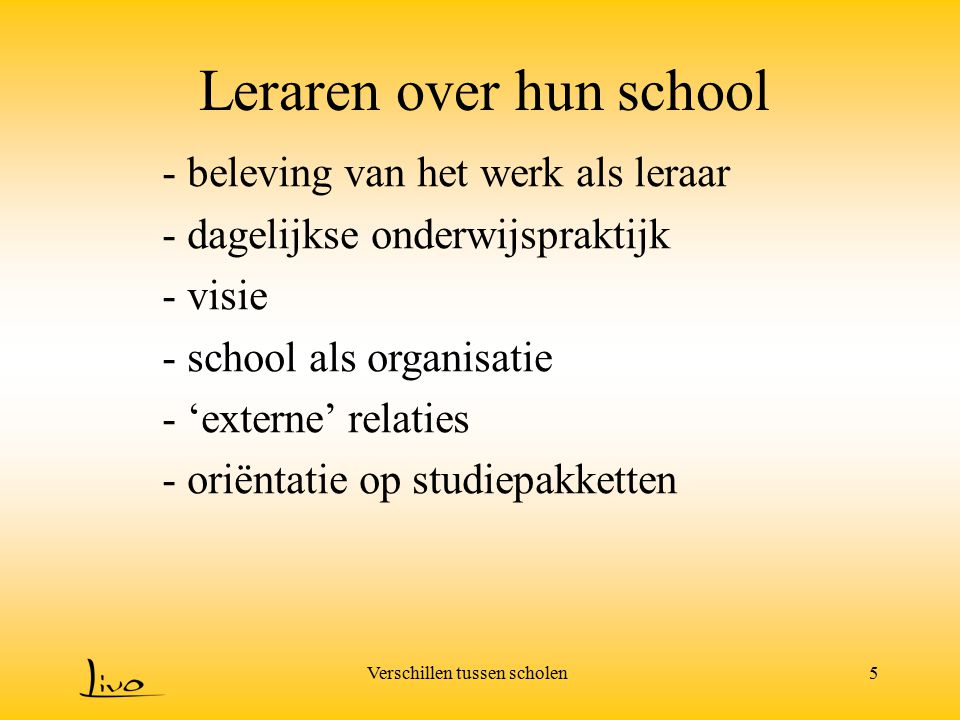 Leraren over hun school