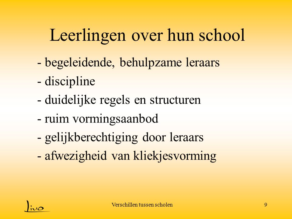 Leerlingen over hun school