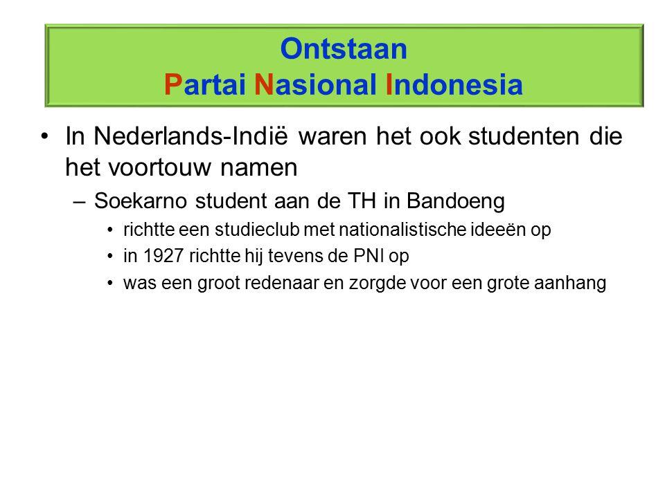 Ontstaan Partai Nasional Indonesia