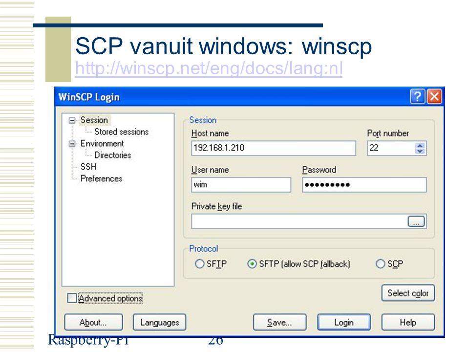 SCP vanuit windows: winscp http://winscp.net/eng/docs/lang:nl