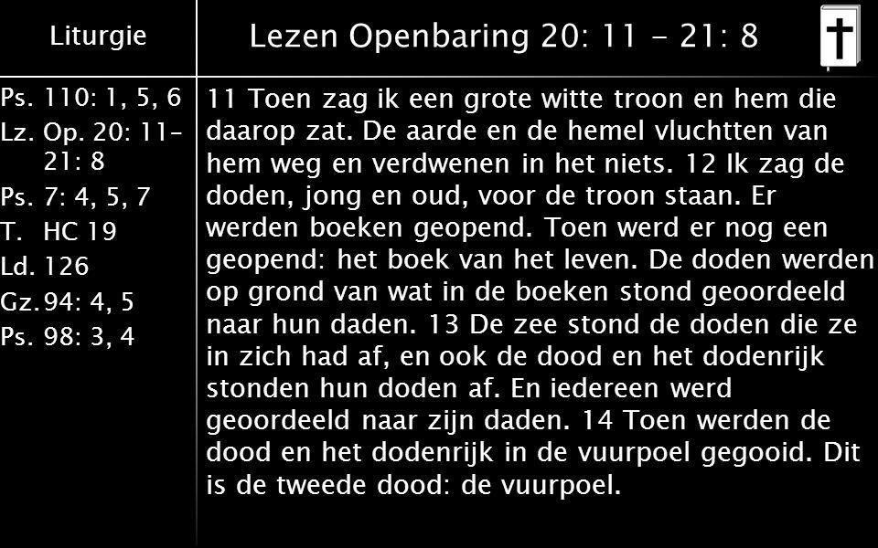 Lezen Openbaring 20: 11 - 21: 8